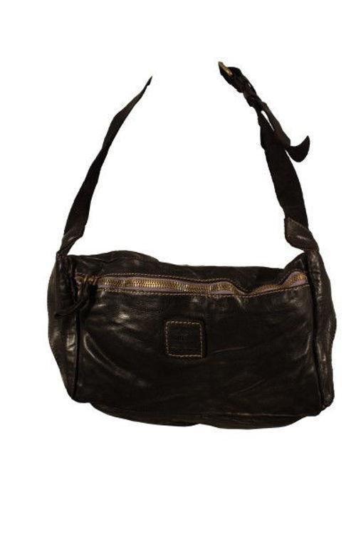 Campomaggi cross over stor lædertaske sort