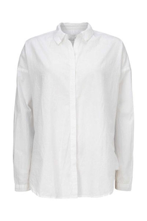Aiayu slim skjorte bomuld hvid