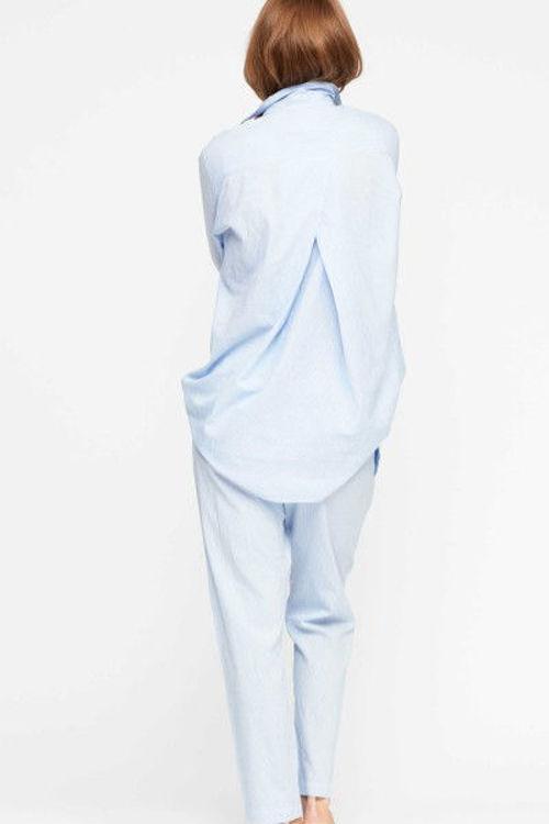 Moshi moshi Mind pants stripe blue stripe