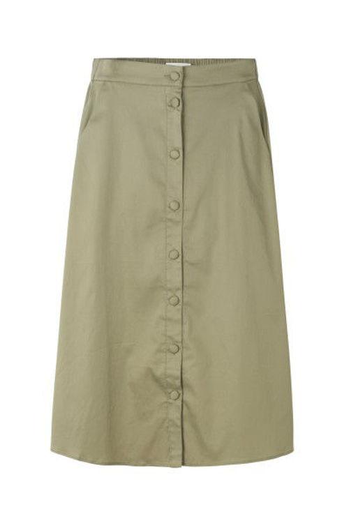 Levetè Room LR-Isla Solid 14 nederdel khaki