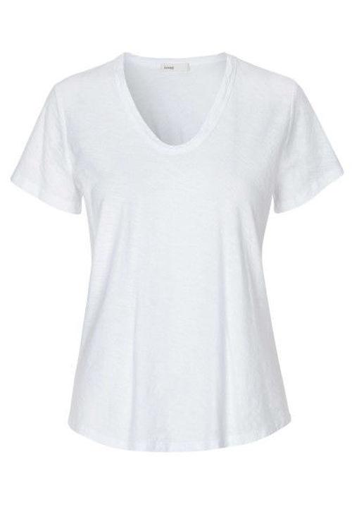 Leveté Room Any T-shirt dyb rund hals hvid