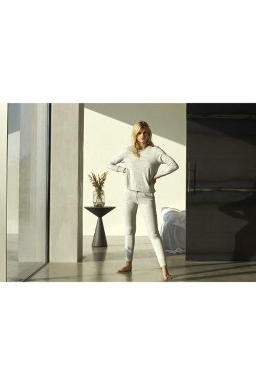 JBS of DK loungewear sweat o´neck bambus lysegrå