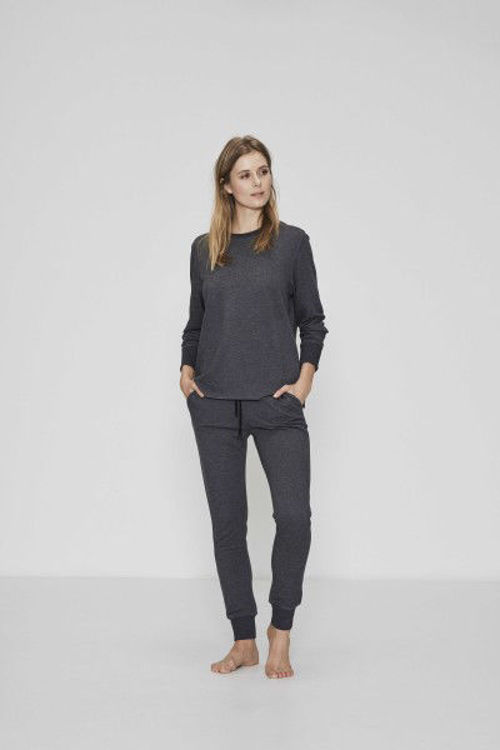 JBS of Denmark loungewear sweatbuks bambus koksgrå