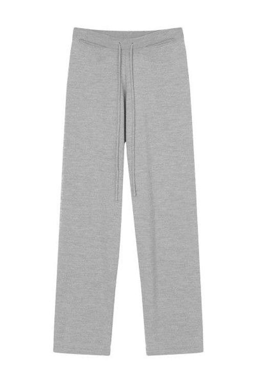 SibinLinnebjerg Tillie strikbukser sweat grey