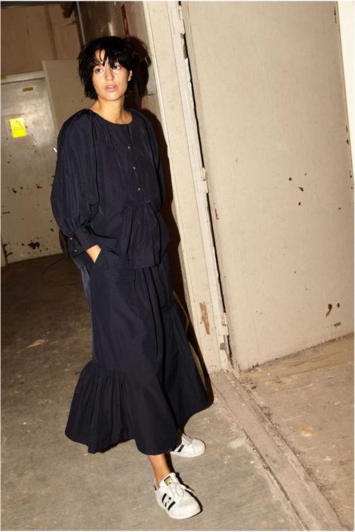 Rabens Saloner Vivienne opaque bluse midnight