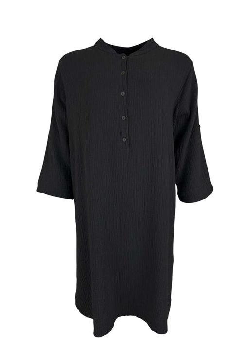 Black Colour Dune Long Shirt sort og rose
