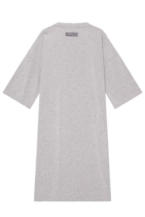 Ganni T-shirt midi kjole paloma melange
