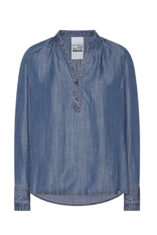 AJ 117 Project Heavenly shirt indigo