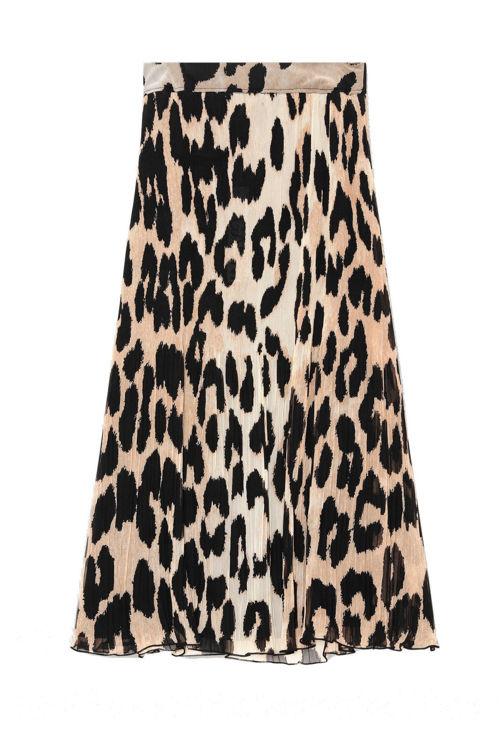 Ganni Georgette maxi nederdel leopard