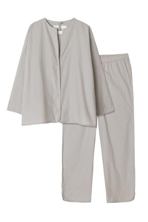 Aiayu pyjamas poplin ash
