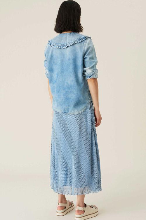 Ganni Georgette nederdel heather