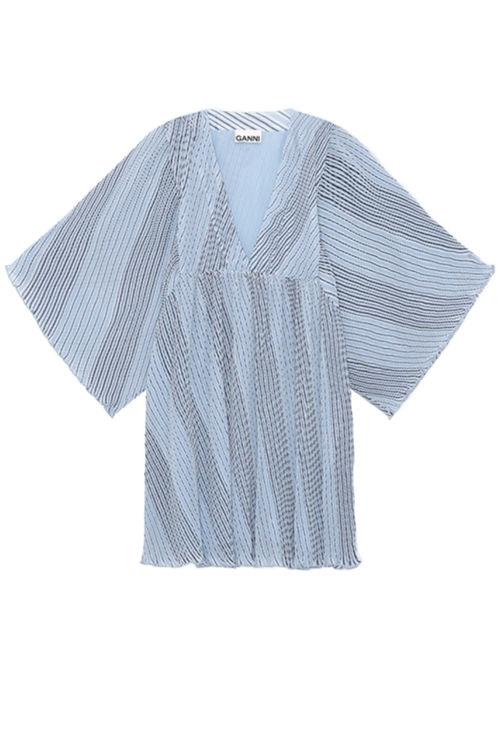 Ganni Georgette mini kjole heather