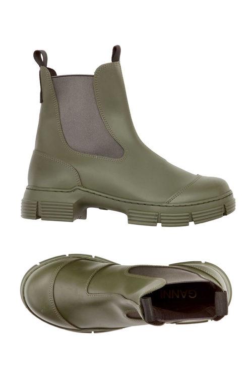 Ganni City Boot genanvendt gummi kalamate