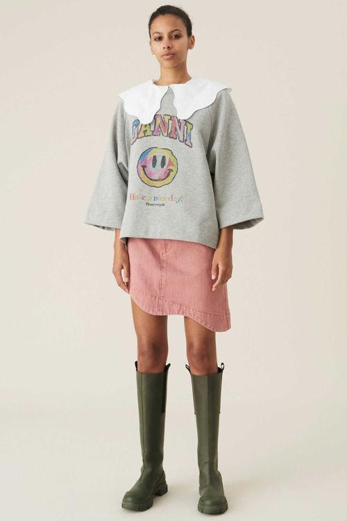 Ganni Isoli oversize sweatshirt paloma melange
