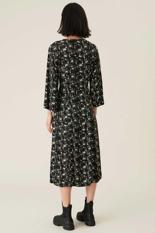 Ganni kjole printed crepe phantom