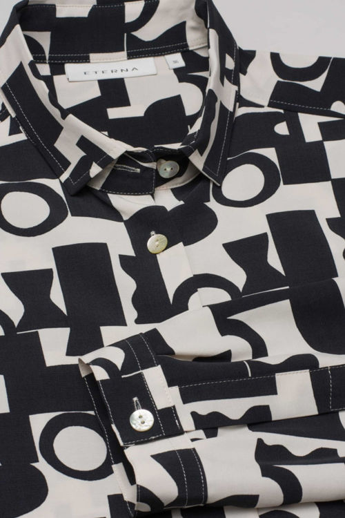 Eterna Modern Classic skjorte print