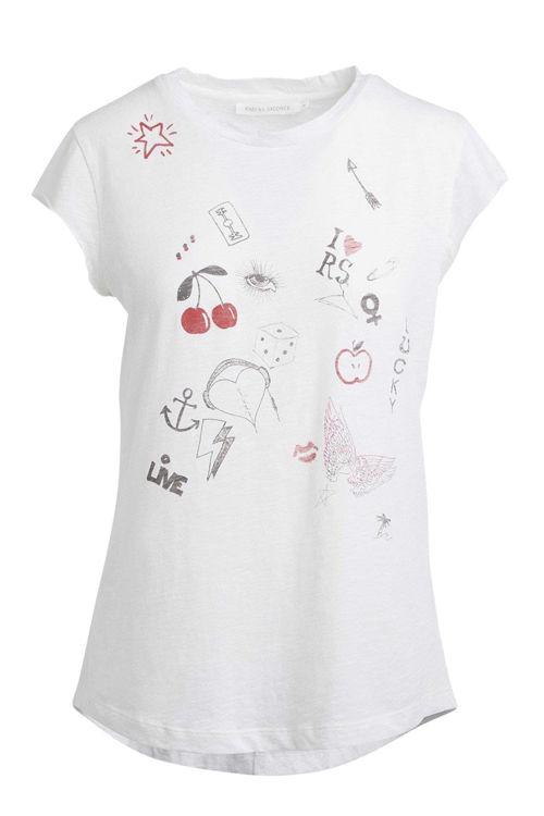 Rabens Saloner Nella Symbols T-shirt off white